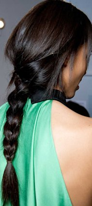Victoria Beckham Works this Season's Plait du Jour in Bejing