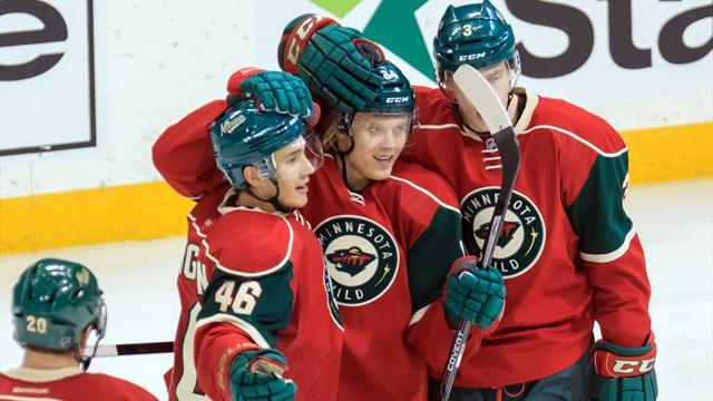 Ice Hockey - Wild third period as Minnesota snuff out Flames