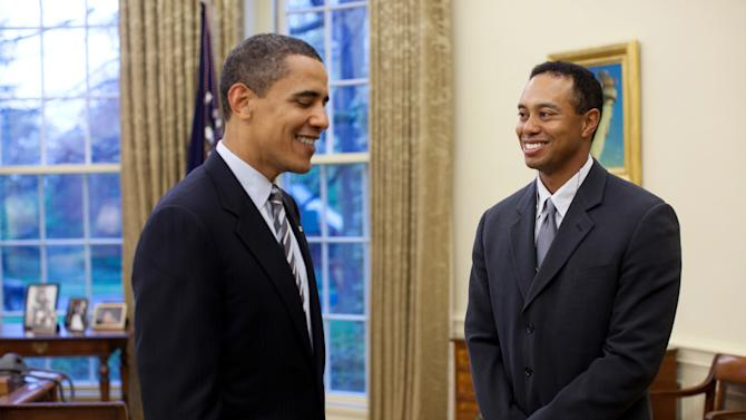 Barack Obama, Tiger Woods