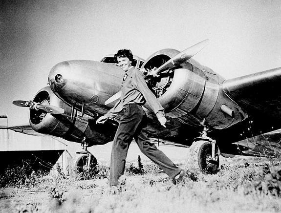 Amelia Earhart was flying a Lockheed Electra airplane when she disappeared in 1937.