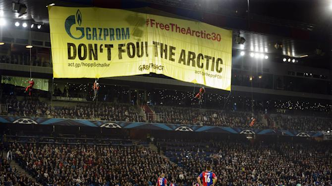 Greenpeace donates to charity after Basel protest