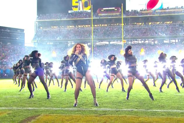 Beyonce slayed the Super Bowl halftime show DANCING IN HEELS ON THE FIELD