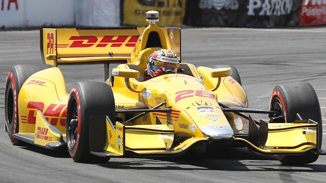 Hunter-Reay wins pole in all-Andretti front