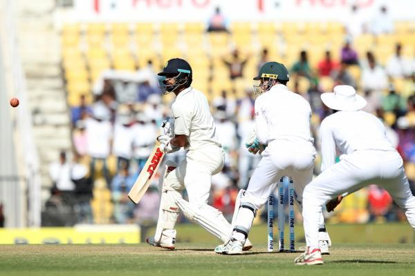 Nagpur: Indian cricketer Shikhar Dhawan in action during the Day-2 of the third test match between India and South Africa at Vidarbha Cricket Association Stadium in Nagpur  on Nov 26, 2015. (Photo: IA