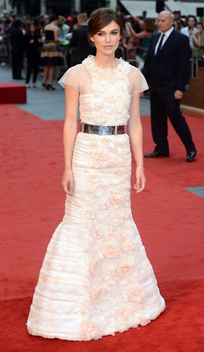 Keira Knightley at the UK Premiere of 'Anna Karenina'.
