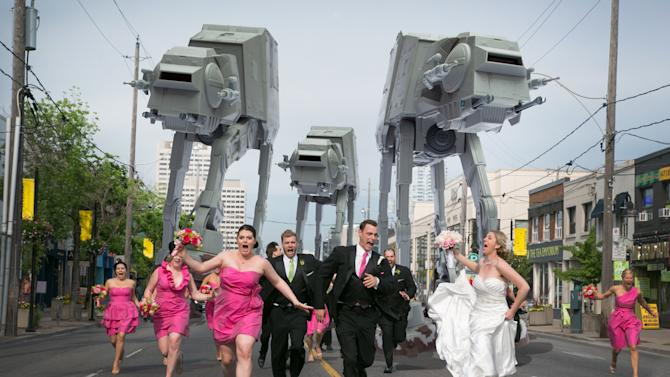 'Star Wars' AT-AT Walkers Attack Horrified Wedding Party in Viral Photo