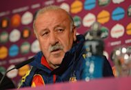 Spanish headcoach Vicente Del Bosque takes part in a press conference in Gdansk on the eve of their Euro 2012 football championships against Italy. He and players Iker Casillas and Andres Iniesta said Saturday a potentially damaging rift between the team's Barcelona and Real Madrid players is a thing of the past