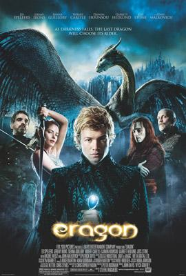Jeremy Irons as Brom, Sienna Guillory as Arya, Edward Speleers as Eragon, Robert Carlyle as Durza, and John Malkovich as King Galbatorix in 20th Century Fox's Eragon