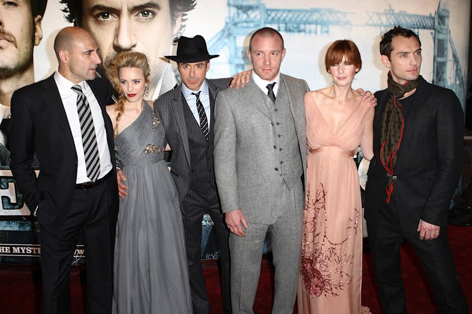 Sherlock Holmes UK Premiere 2009 Mark Strong Rachel McAdams Robert Downey jr. Guy Ritchie Kelly Reilly Jude Law