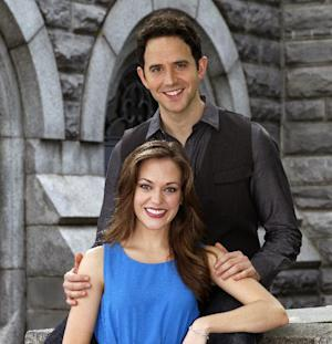 "This undated image released by Sam Rudy Media Relations shows actors Laura Osnes and Santino Fontana in New York. Osnes and Fontana will star in the Rodgers and Hammerstein's ""Cinderella.""  (AP Photo/Sam Rudy Media Relations, Carol Rosegg)"