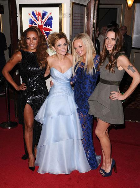 Mel B, Geri Halliwell, Emma Bunton and Mel C at the Viva Forever! press night © Rex