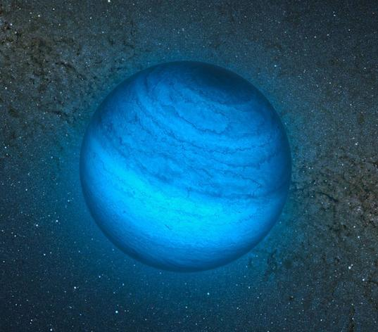 The planet is thought to be an 'orphan' - floating free in space without a star (Image: ESO)