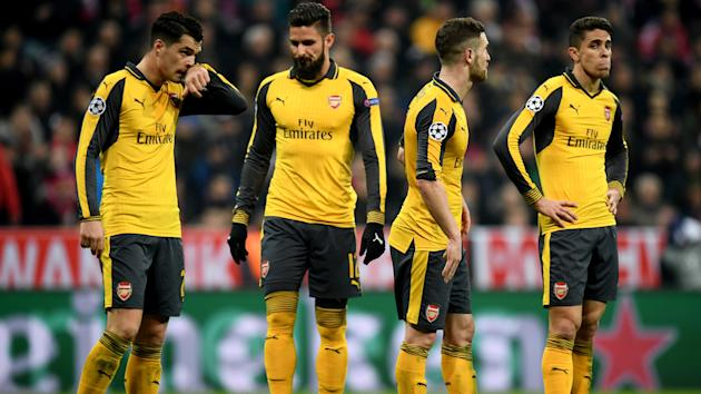 An embarrassing defeat in Munich saw Arsenal set an unwanted record as they were humbled by Bayern in the Champions League.