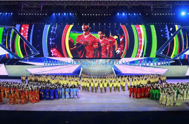 Performers participate in the closing ceremony of the 27th SEA.