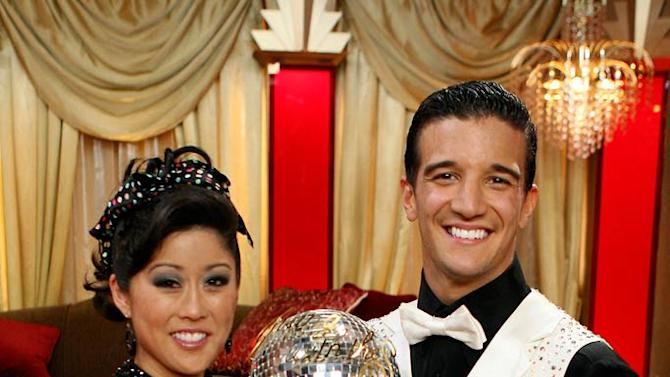 "Kristi Yamaguchi and her professional partner Mark Ballas, are crowned champions of ""Dancing with the Stars."""