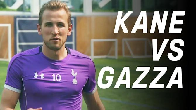 Harry Kane vs Gazza: Free Kick Challenge
