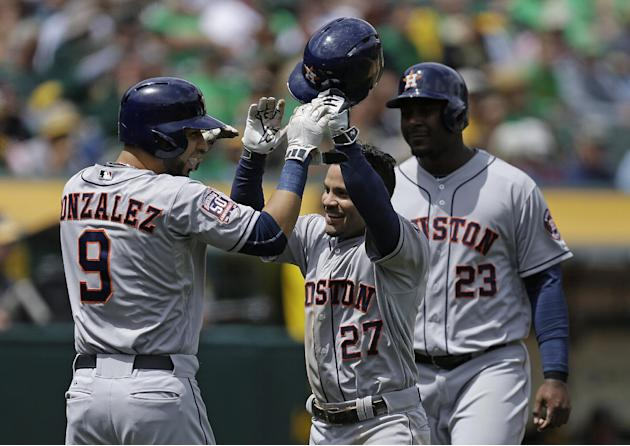 LEADING OFF: Astros go for 1st sweep vs. A's, Volquez active