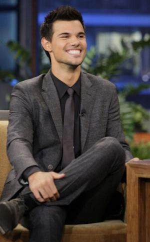 Taylor Lautner stops by 'The Tonight Show with Jay Leno' on October 31, 2011 -- NBC