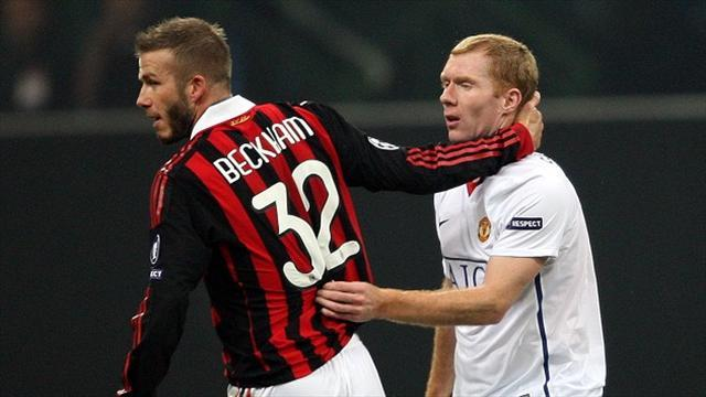 Football - Scholes sad to see Beckham quit