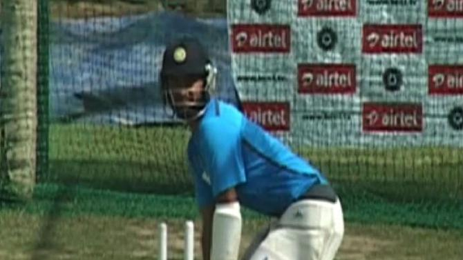 India in practice session
