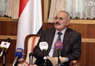 Yemen's Ali Abdullah Saleh, seen here in January 2012, has stepped down after 33 years at the helm on Monday, making him the fourth veteran Arab leader to fall in a year of mass pro-democracy demonstrations that have rocked the region