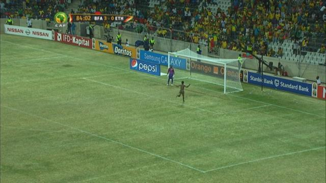 African Cup of Nations - Streaker hits back of net at Cup of Nations