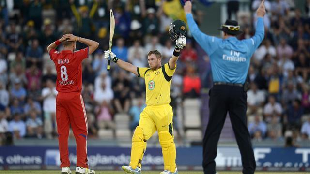 Cricket - Finch's record innings sees Australia beat England