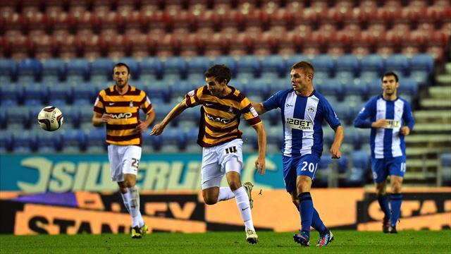 League Cup - Wigan shocked by Bradford as Premier trio exit