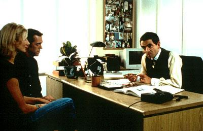 Joely Richardson , Hugh Laurie and Rowan Atkinson in USA Films' Maybe Baby 2001 Photo: Sally Miles