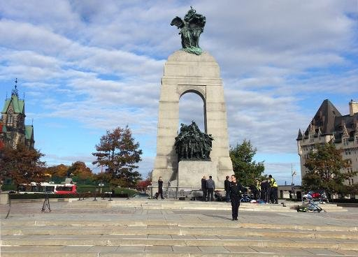 Polizeieinsatz am Kriegsdenkmal in Ottawa