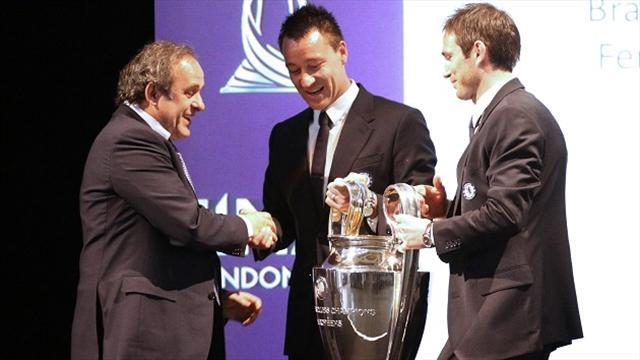 Football - Terry pained by trophy handover