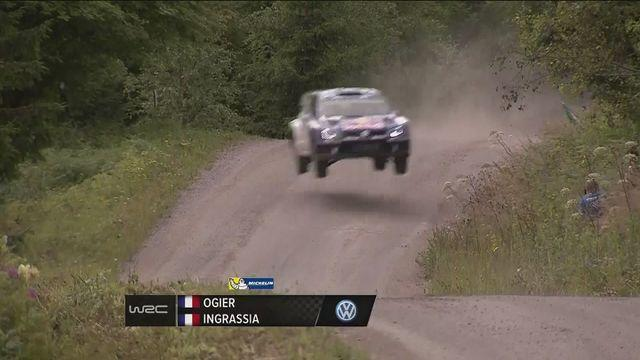 Ogier continues to lead in the Rally Finland