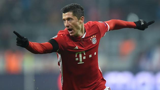 Robert Lewandowski has five Champions League goals for Bayern this season, and Michael Tarnat sees him improving that tally against Arsenal.