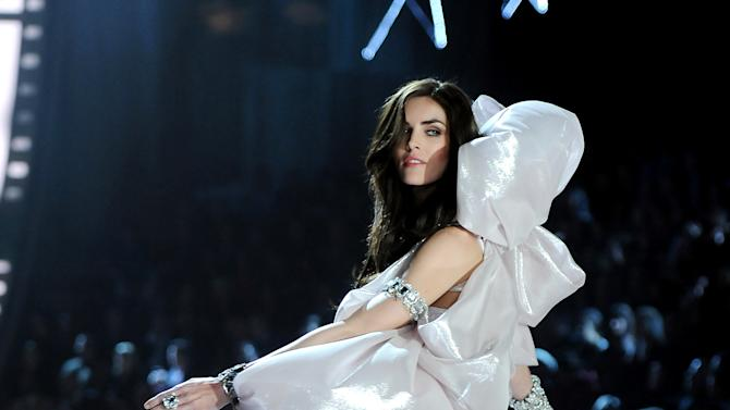 Model Hilary Rhoda walks the runway during the 2012 Victoria's Secret Fashion Show on Wednesday Nov. 7, 2012 in New York. The show will be Broadcast on Tuesday, Dec. 4 (10:00 PM, ET/PT) on CBS. (Photo by Evan Agostini/Invision/AP)