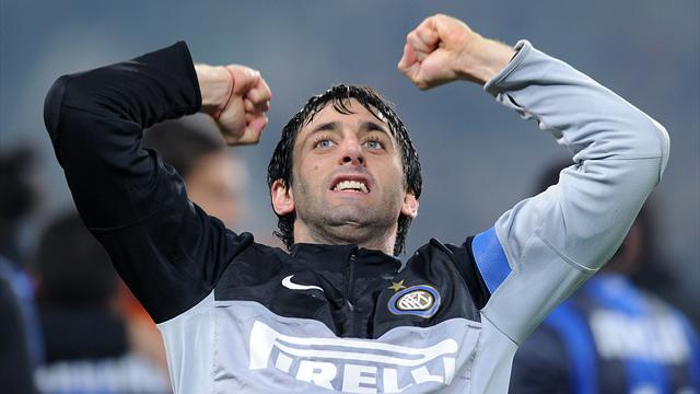 Serie A - Milito sets up return for Inter Milan after injury