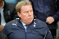 Tottenham Hotspur's English manager Harry Redknapp looks on before the English Premier League football match between Aston Villa and Tottenham Hotspur at Villa Park in Birmingham. Redknapp has insisted his team have not blown their hopes of third place and automatic qualification for the Champions League despite only drawing with Aston Villa