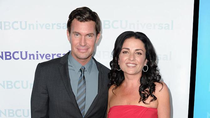 """Jeff Lewis and Jenni Pulos (""""Flipping Out"""") attend the 2012 NBC Universal Winter TCA All-Star Party at The Athenaeum on January 6, 2012 in Pasadena, California."""