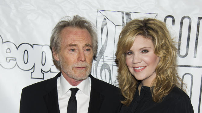 Inductee JD Souther and Alison Krauss attend the Songwriters Hall of Fame 44th annual induction and awards gala on Thursday, June 13, 2013 in New York. (Photo by Charles Sykes/Invision/AP)