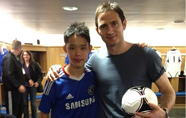Chelsea fan Wu Zhi Qin won a free trip to meet Frank Lampard in Stamford Bridge (photo courtesy of Wu Zhi Qin)
