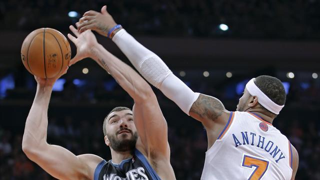NBA - Anthony leads Knicks over Timberwolves