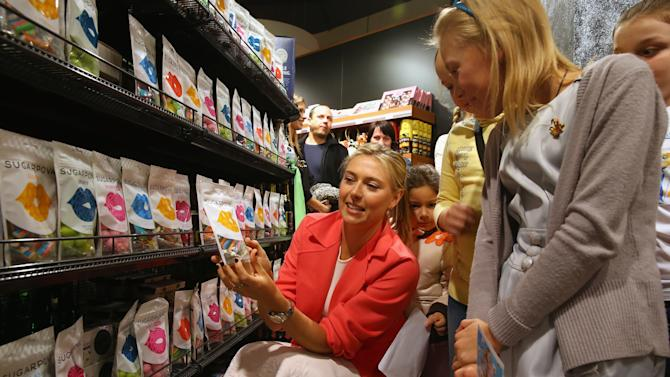 Maria Sharapova attends charity event for kids who play tennis in Sochi
