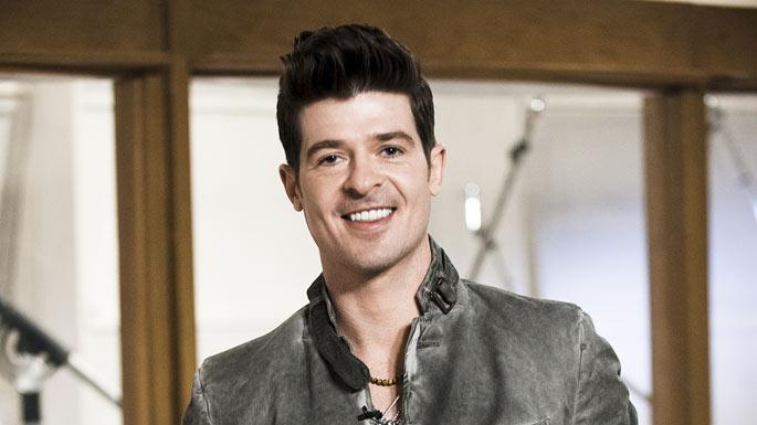 "Robin Thicke is a mentor on the second season of ""The Voice."""
