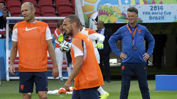 Louis van Gaal unhappy with dugout in Porto Alegre