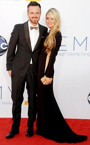 Inside Aaron Paul, Fiancee Lauren Parsekian's Romantic Emmys Night