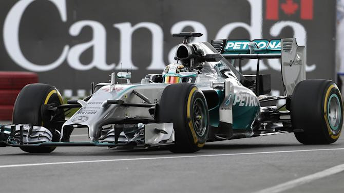 Formula 1 - Hamilton ends Friday on top in Canada