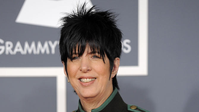 "FILE - This Feb. 12, 2012 file photo shows songwriter Diane Warren arriving at the 54th annual GRAMMY Awards in Los Angeles. Tony Award-winning producer Dede Harris has optioned the Warren's music catalogue. The creative team and a timeline for the project will be announced at a later date. Warren's writing credits include Aerosmith's ""I Don't Want to Miss a Thing,"" Celine Dion's ""Because You Loved Me,"" Toni Braxton's ""Un-Break My Heart,"" LeAnn Rimes' ""How Do I Live"" and ""I Was Here"" for Beyonce. Harris is the Tony Award-winning producer of ""Hairspray,"" ""Dirty Rotten Scoundrels"" and ""A Raisin in the Sun."" Her recent hits include ""One Man, Two Guvnors,"" ""War Horse"" and ""Clybourne Park."" (AP Photo/Chris Pizzello, file)"