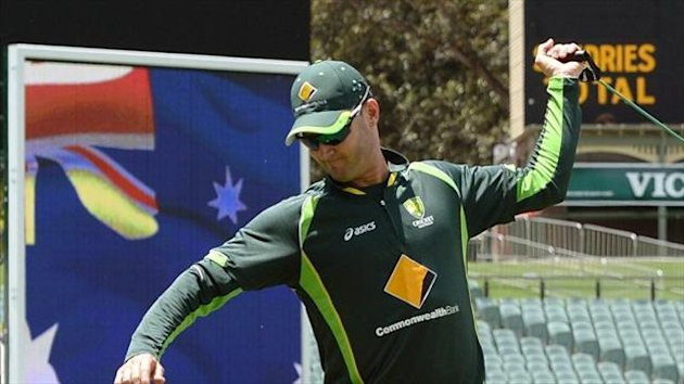 Australia captain Michael Clarke missed training on Tuesday but is expected to be fit to face England in Adelaide.