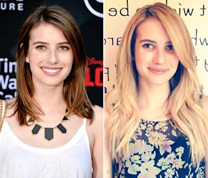 Emma Roberts Goes Blonde, Gets Long Hair Extensions