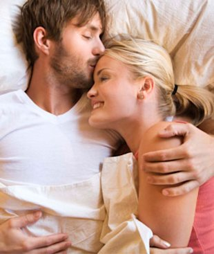 Next time your guy gives you grief about cuddling, tell him it's good for your health!