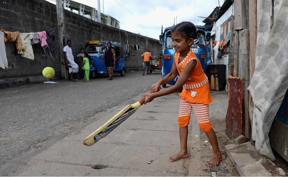 Children Play Cricket In Streets Outside R Premadasa Stadium